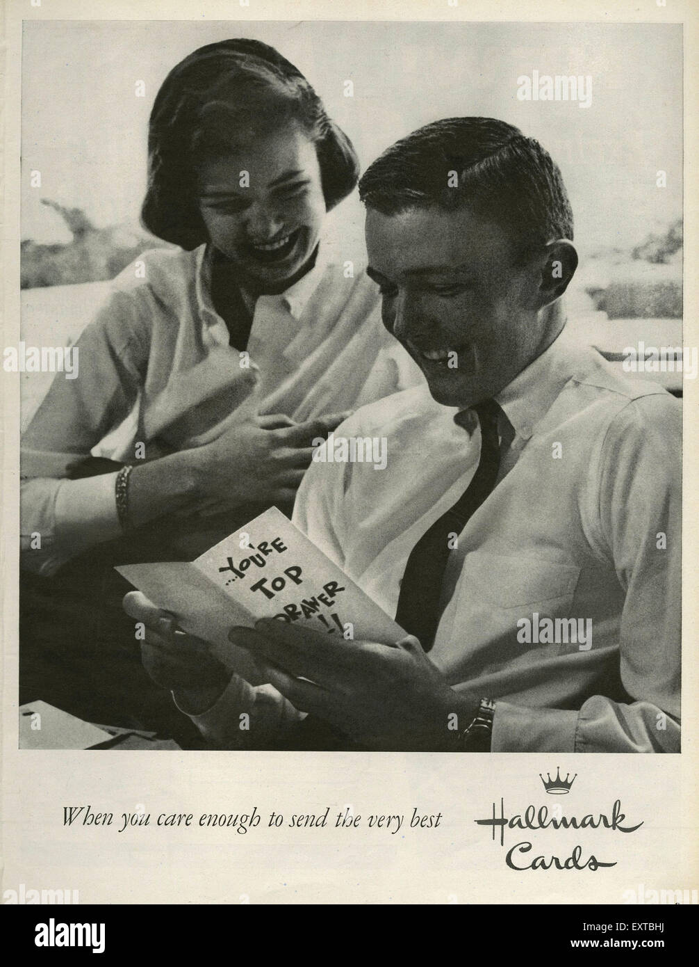 1960s USA Hallmark Magazine Advert - Stock Image