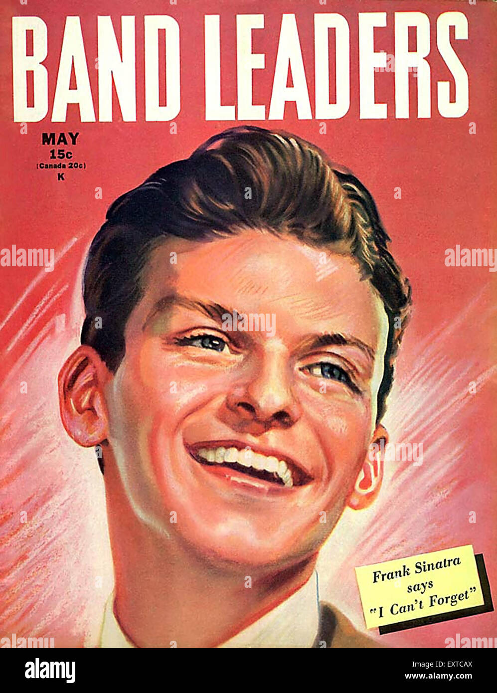 1940s USA Band Leaders Magazine Cover - Stock Image