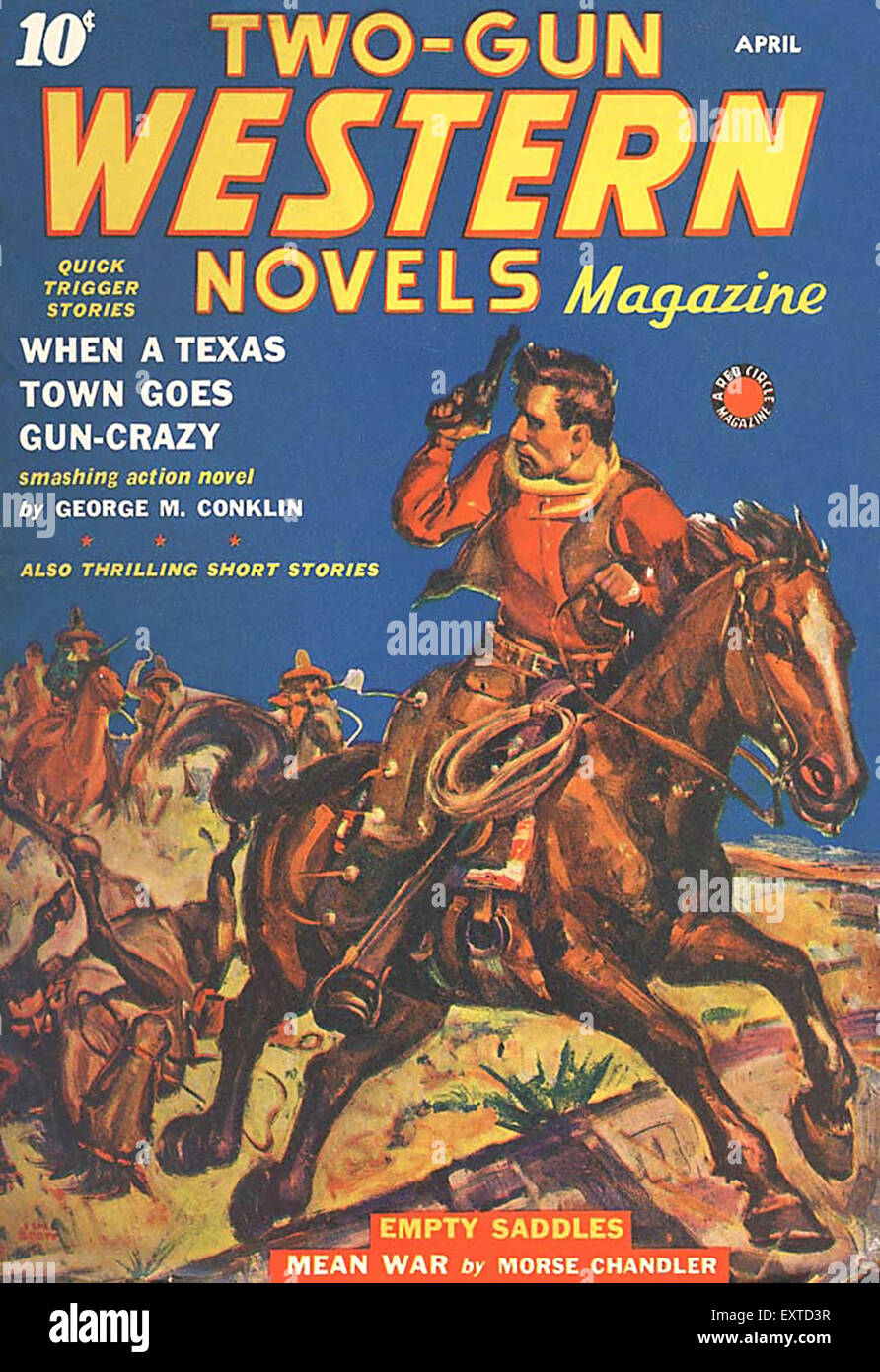 1940s USA Two-Gun Western Novels Magazine Cover - Stock Image