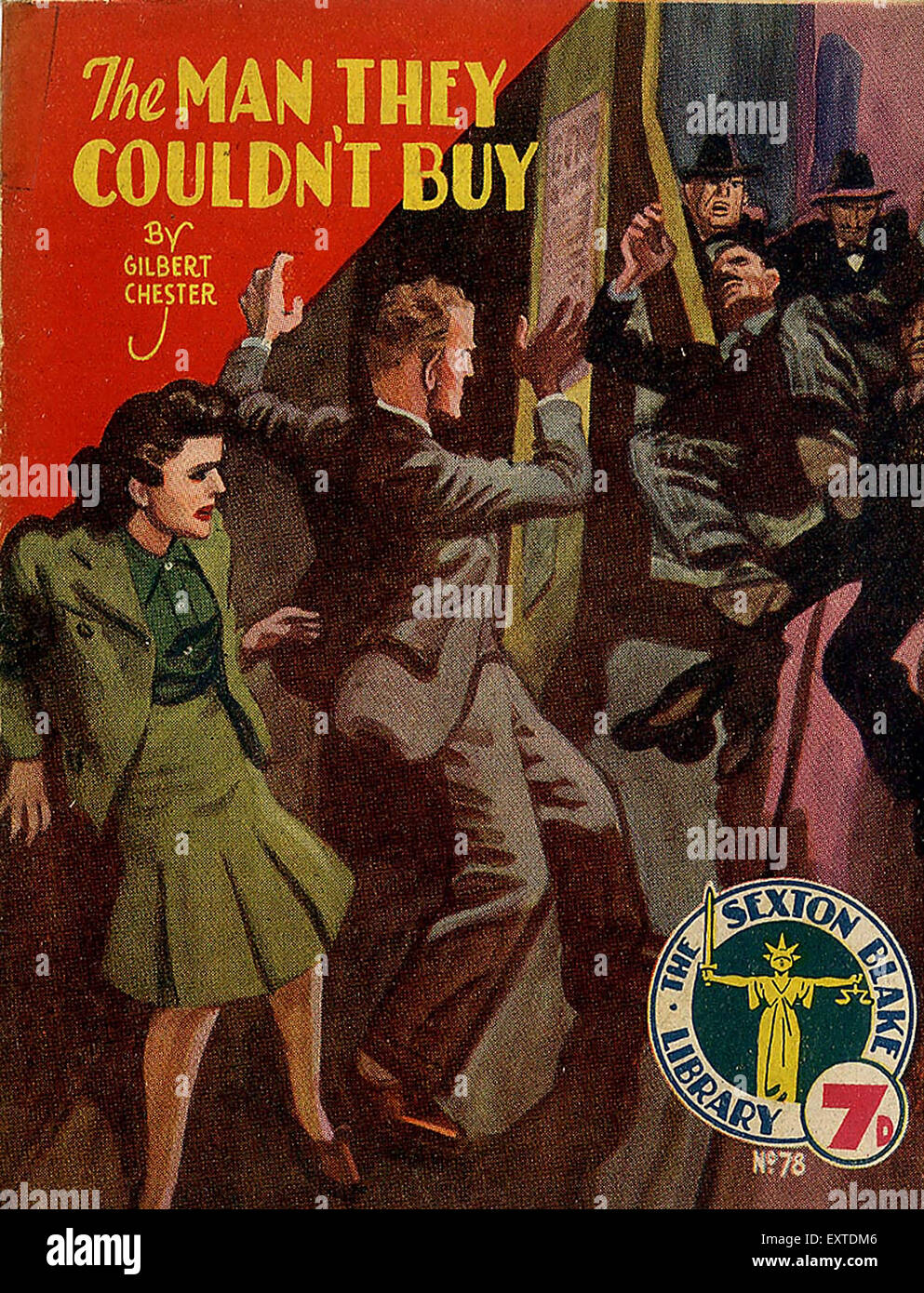 1930s UK The Man They Couldn't Buy Magazine Cover - Stock Image