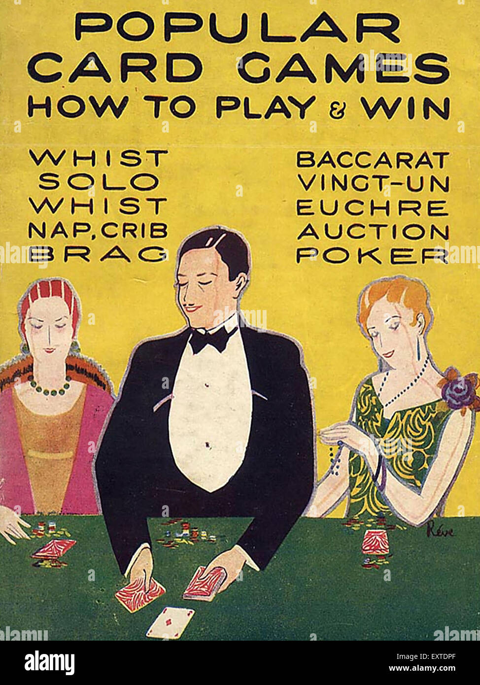 1920s Uk Popular Card Games Book Cover Stock Photo 85360199 Alamy