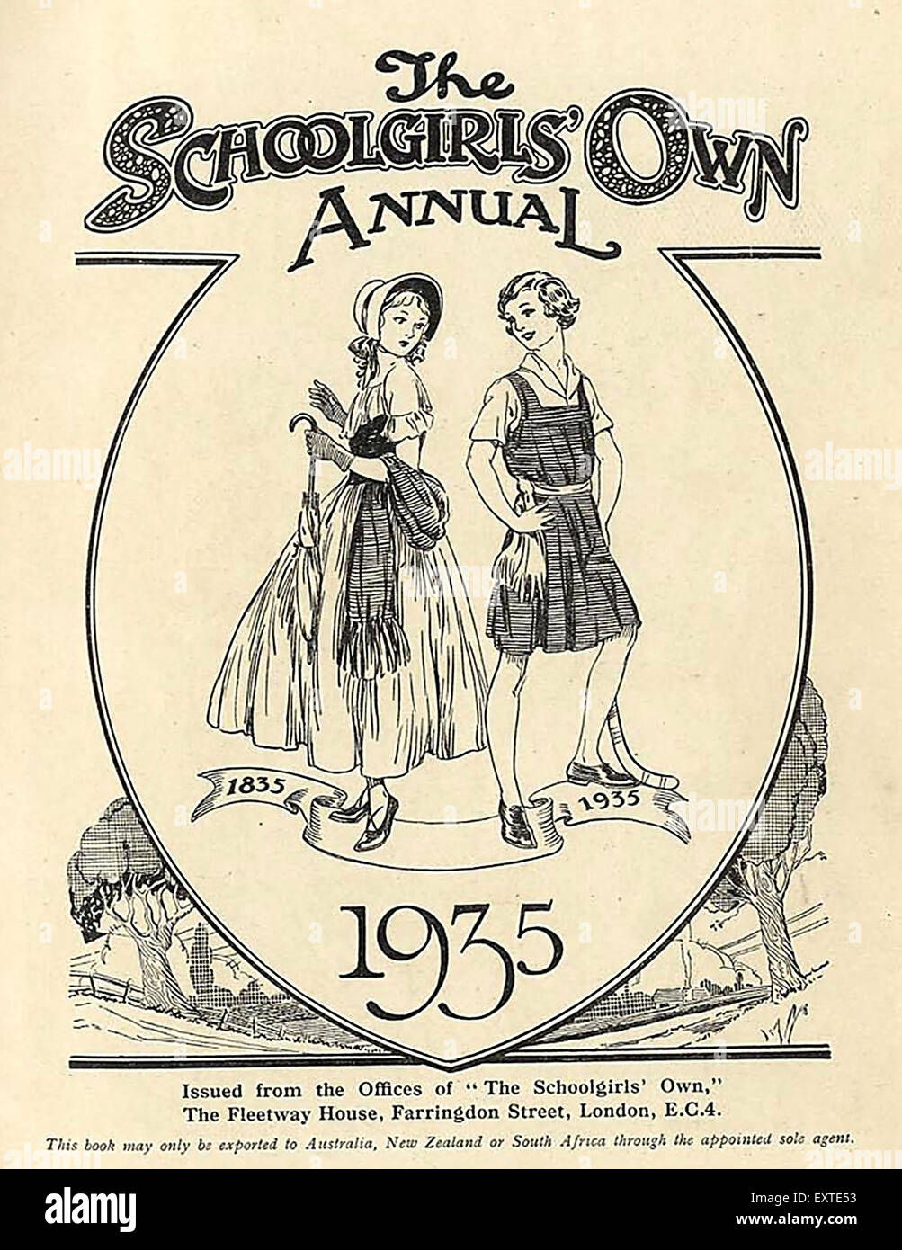 1930s UK The Schoolgirls Own Comic Annual Cover