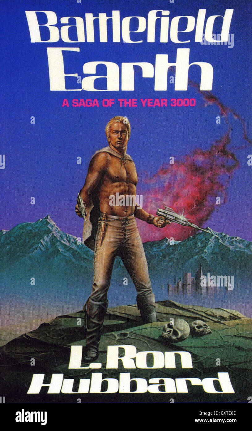 1980s USA Battlefield Earth Book Cover - Stock Image