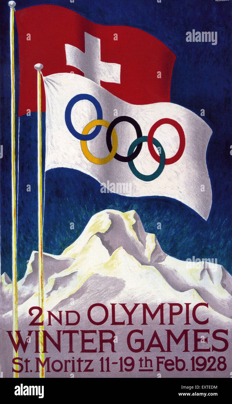 1920s Switzerland Olympic Games Poster - Stock Image