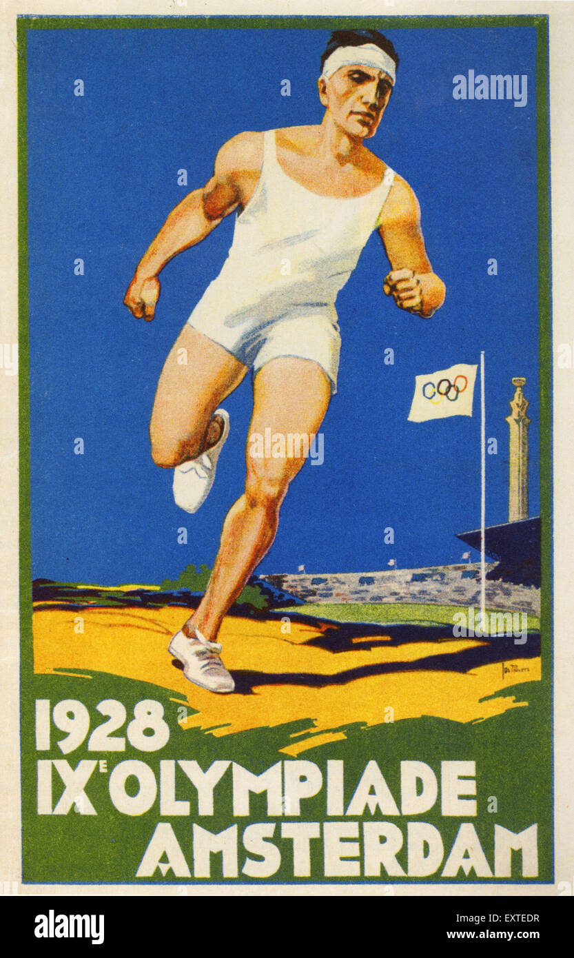 1920s Netherlands Olympic Games Poster - Stock Image