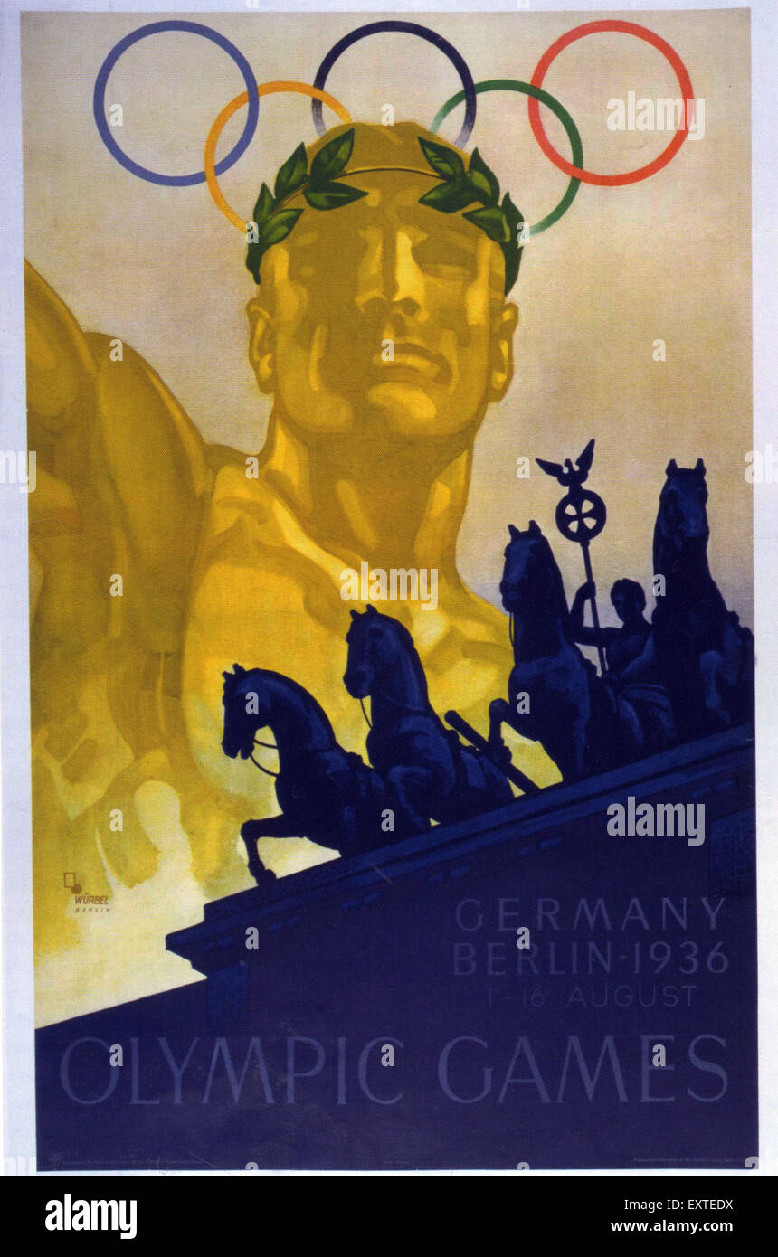 1930s Germany Olympic Games Poster Stock Photo