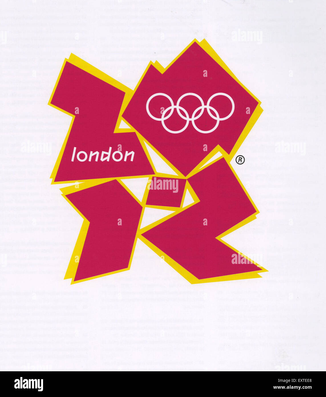 2000s UK Olympic Games Poster - Stock Image