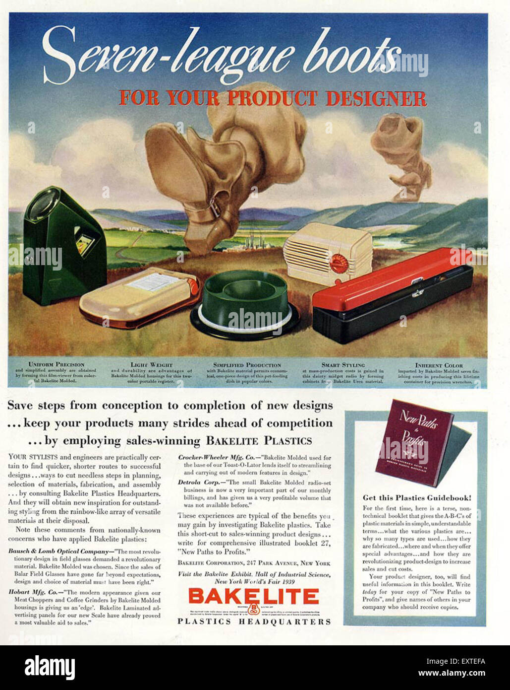 1940s USA Bakelite Magazine Advert - Stock Image