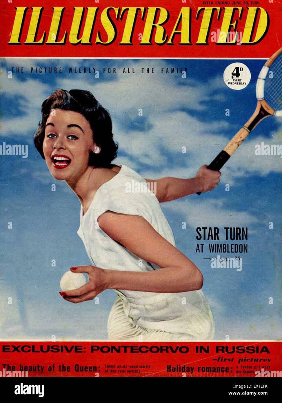 1950s UK Illustrated Magazine Cover - Stock Image