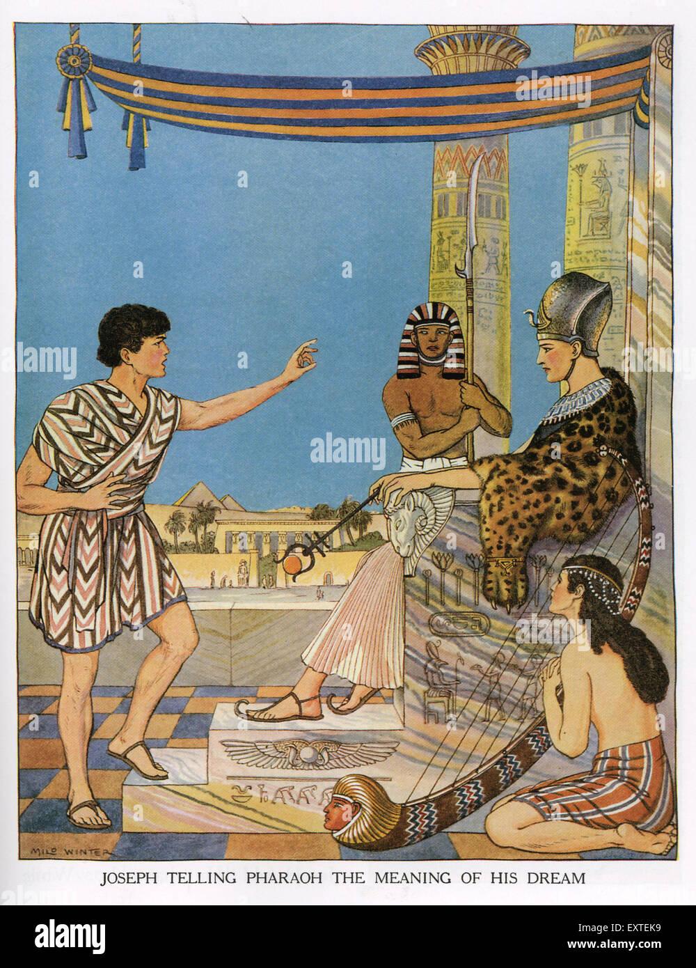 1920s USA Joseph and Pharaoh Book Plate - Stock Image