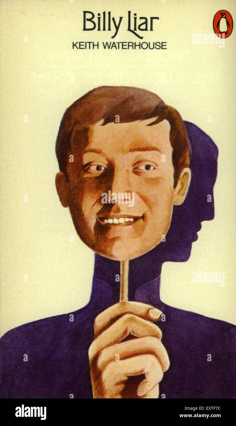 1970s UK Billy Liar Book Cover - Stock Image