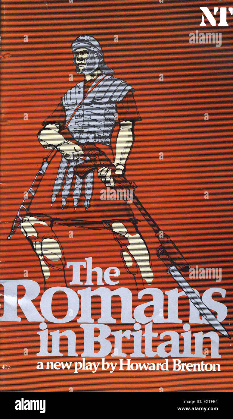 1980s UK The Romans In Britain Poster - Stock Image