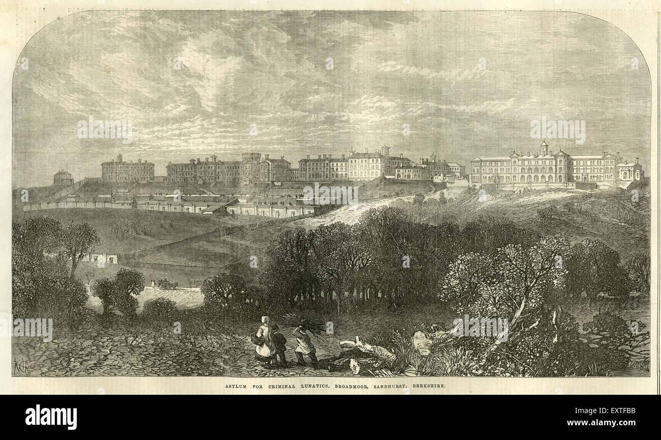 1860s UK NLI Magazine Plate - Stock Image