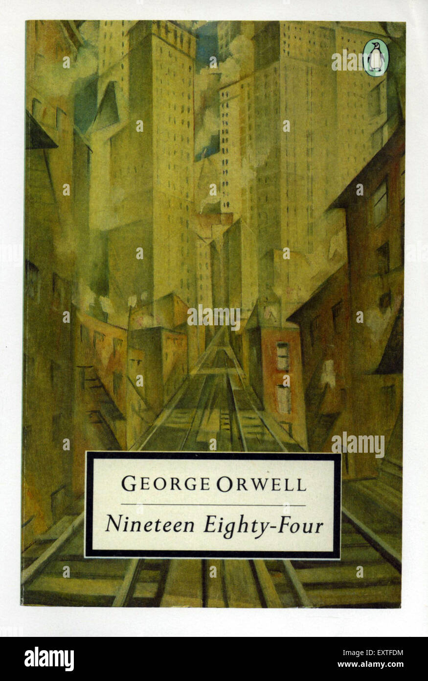 1980s UK Nineteen Eighty-Four Book Cover - Stock Image