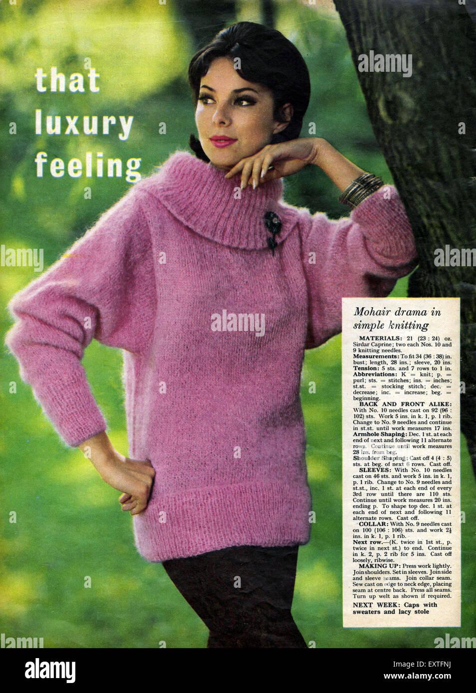 1960s Uk Womens Knitting Patterns Stock Photo 85361742 Alamy