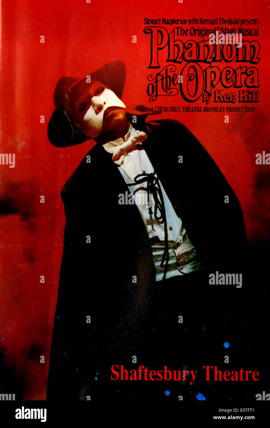 1990s UK Phantom of The Opera Poster - Stock Image