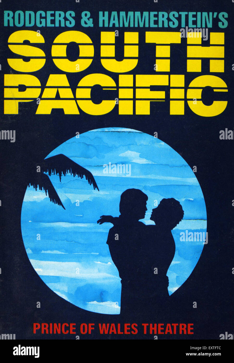 1980s UK South Pacific Poster - Stock Image