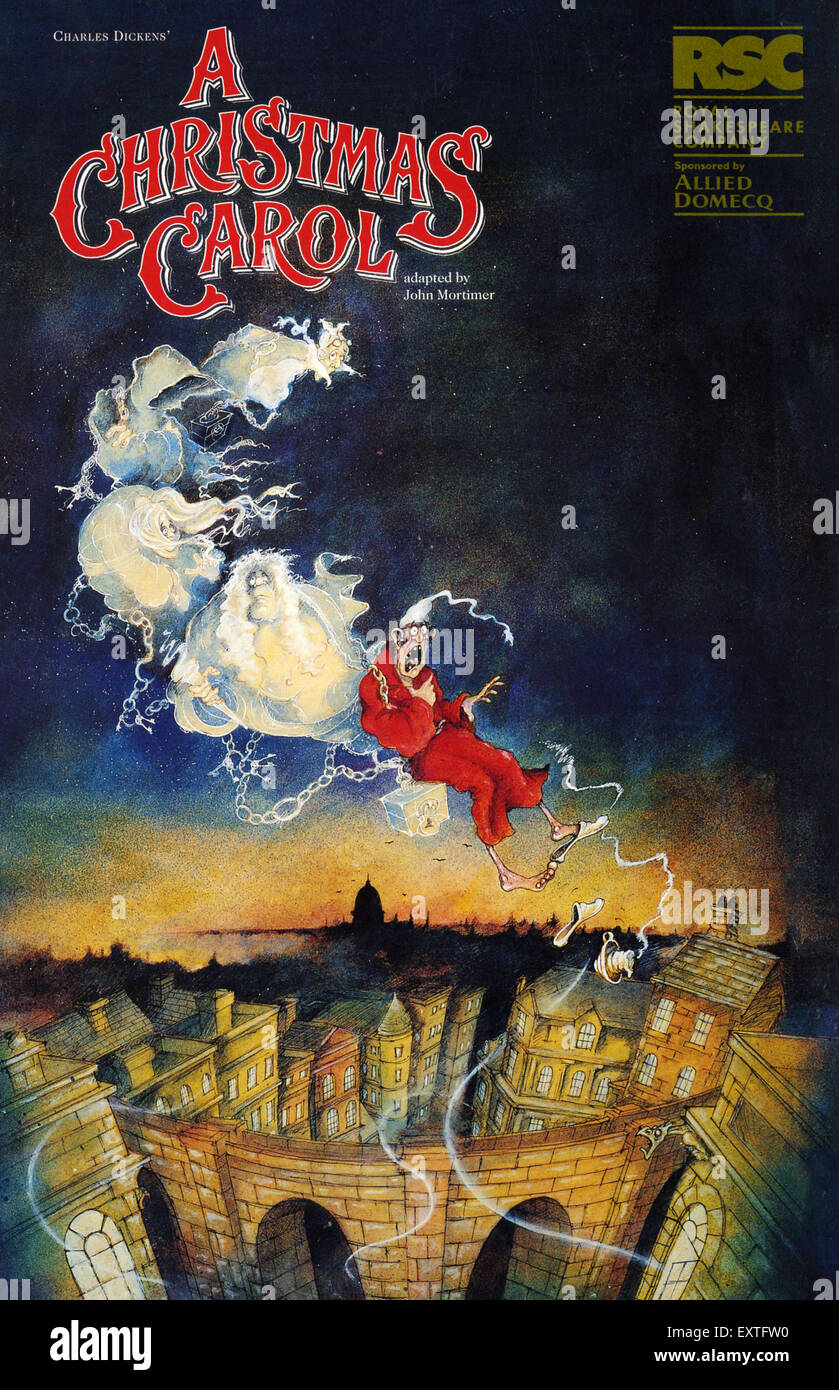 A Christmas Carol Poster.1990s Uk A Christmas Carol Poster Stock Photo 85361836 Alamy