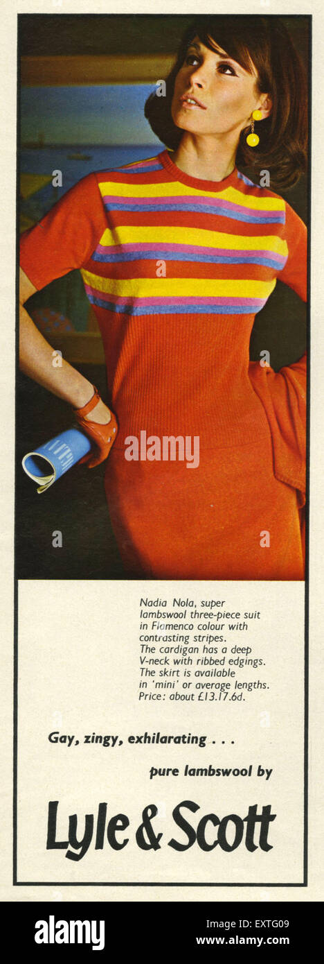 1960s UK Lyle and Scott Magazine Advert - Stock Image