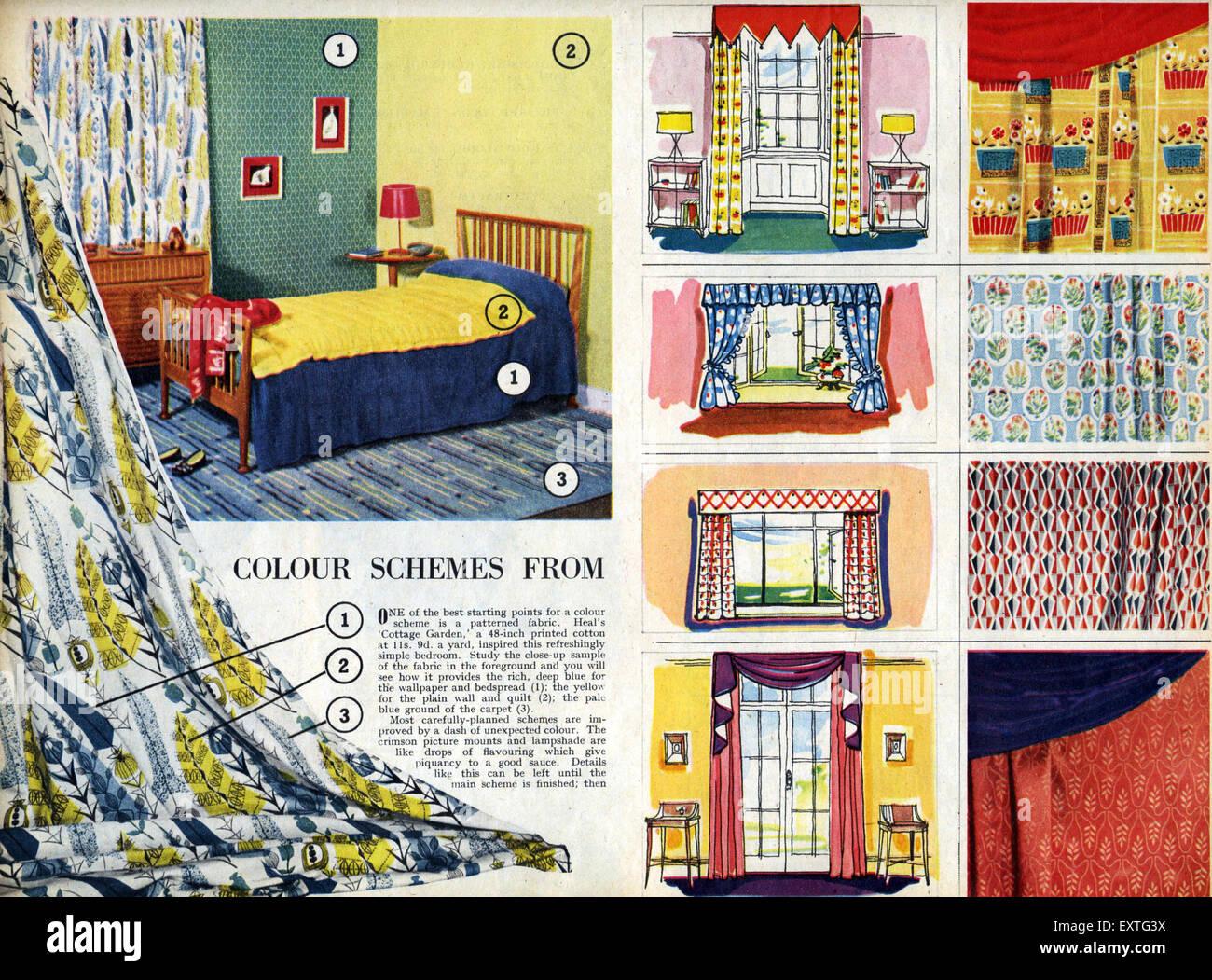 1950s Uk Home Decorating Magazine Stock Photos & 1950s Uk Home ...