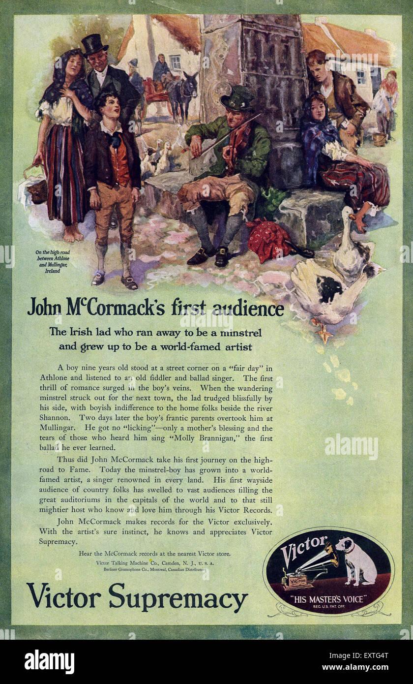 Hmv magazine advert stock photos hmv magazine advert stock images 1910s uk hmv victor magazine advert stock image gumiabroncs Image collections