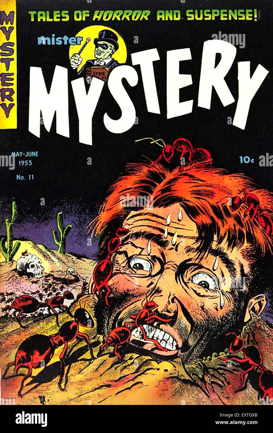 1950s USA Mister Mystery Comic/ Annual Cover - Stock Image