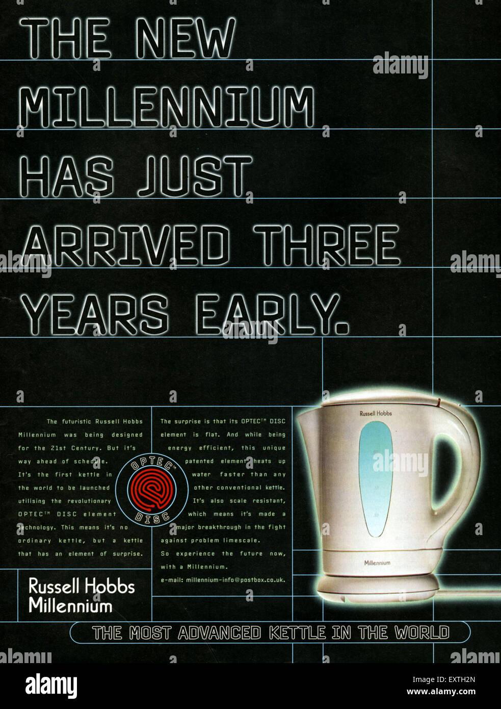 1990s UK Russell Hobbs Magazine Advert - Stock Image