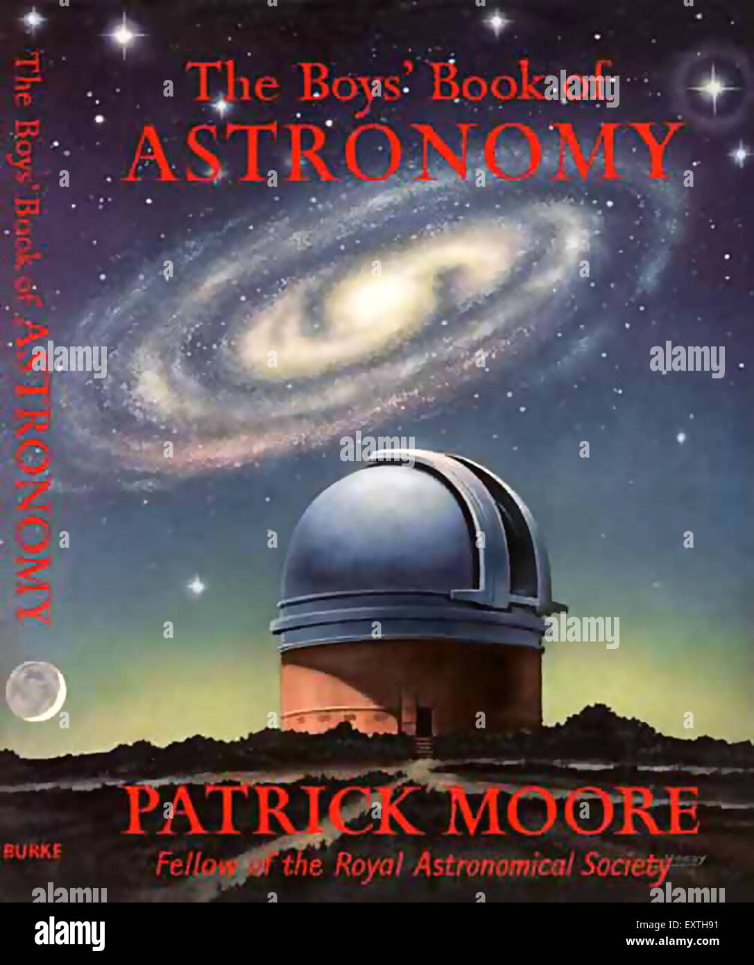 1960s UK The Boy's Book of Astronomy Book Cover - Stock Image