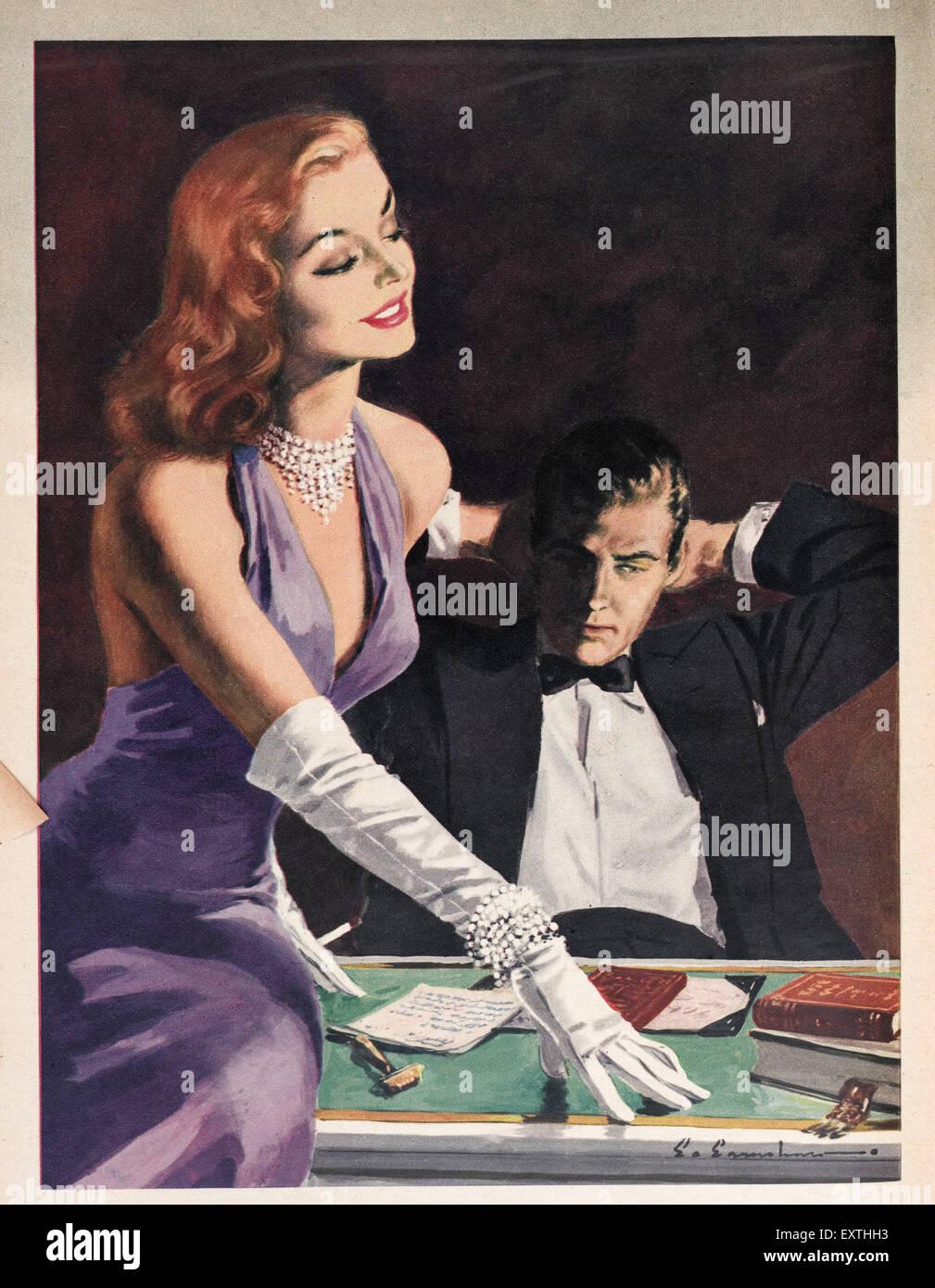 1950s UK Woman Magazine Plate - Stock Image