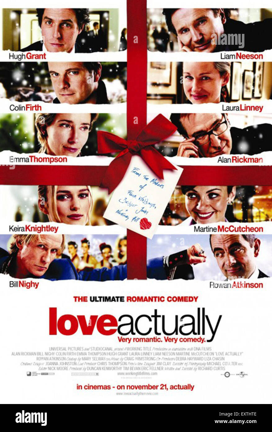 2000s UK Love Actually Film Poster - Stock Image