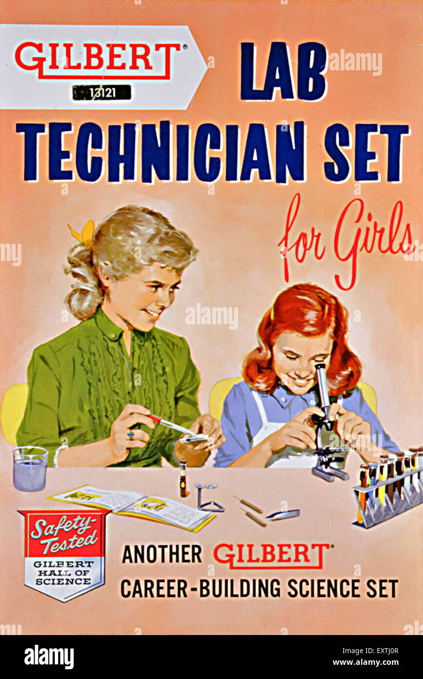 1950s USA Gilbert Magazine Advert - Stock Image