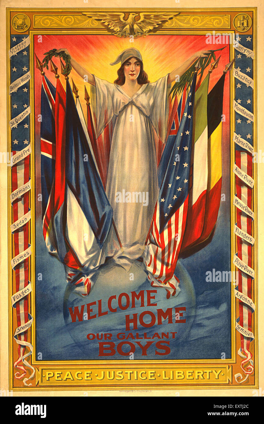 1910s USA World War One Poster - Stock Image
