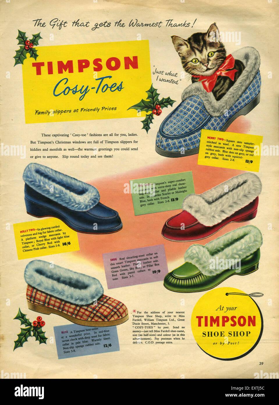 1950s UK Timpson Magazine Advert Stock