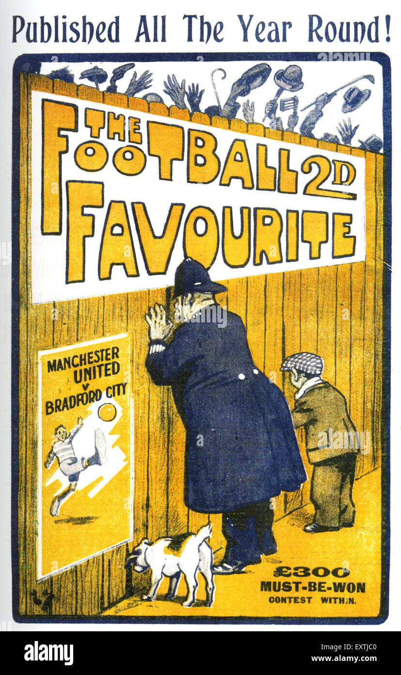 1920s UK The Football Favourite Comic/ Annual Cover - Stock Image