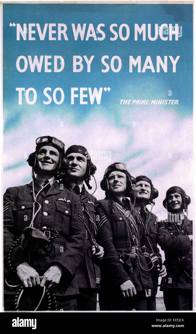 1940s UK World War Two Poster - Stock Image