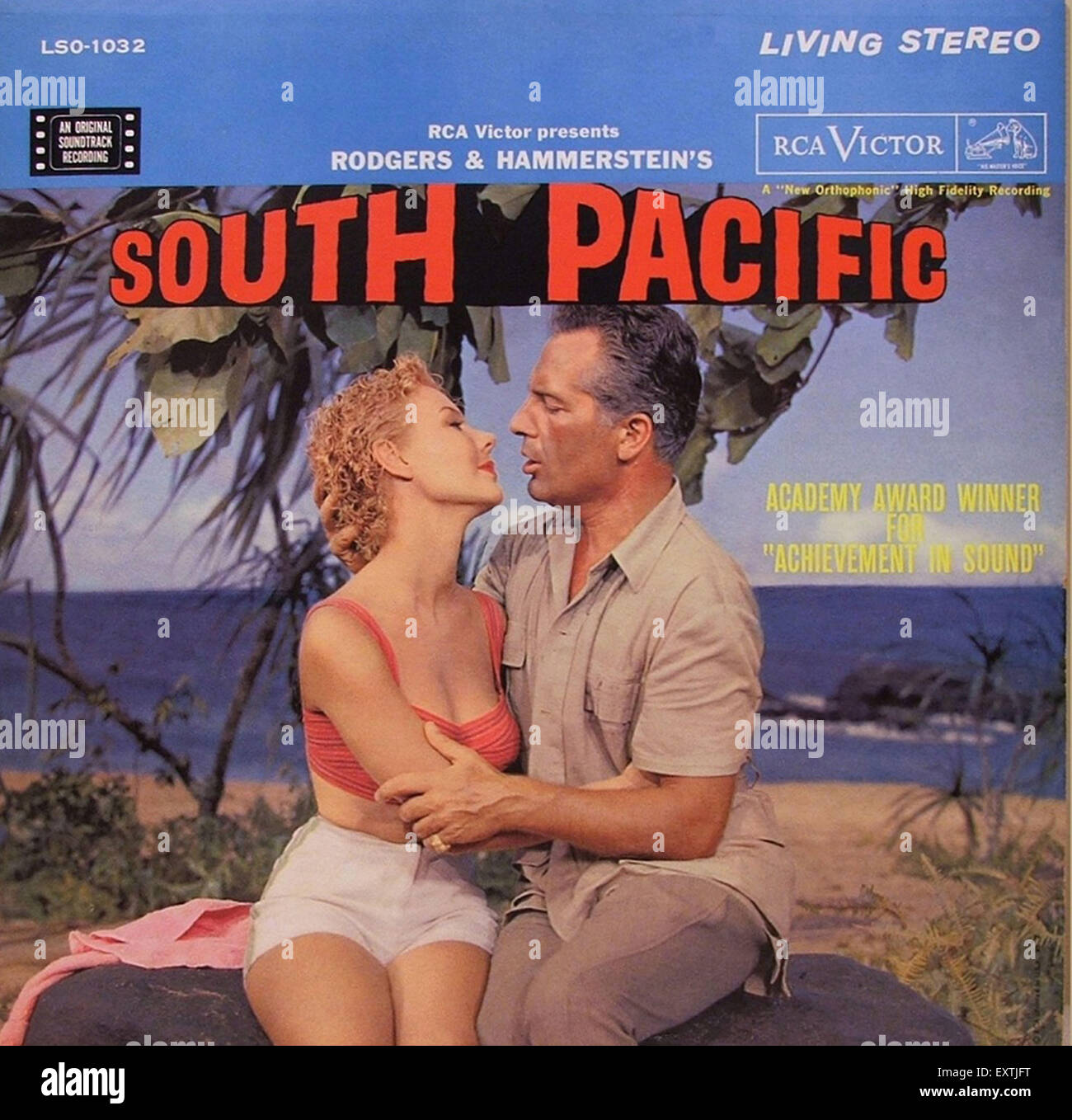 1950s USA South Pacific Album Cover - Stock Image