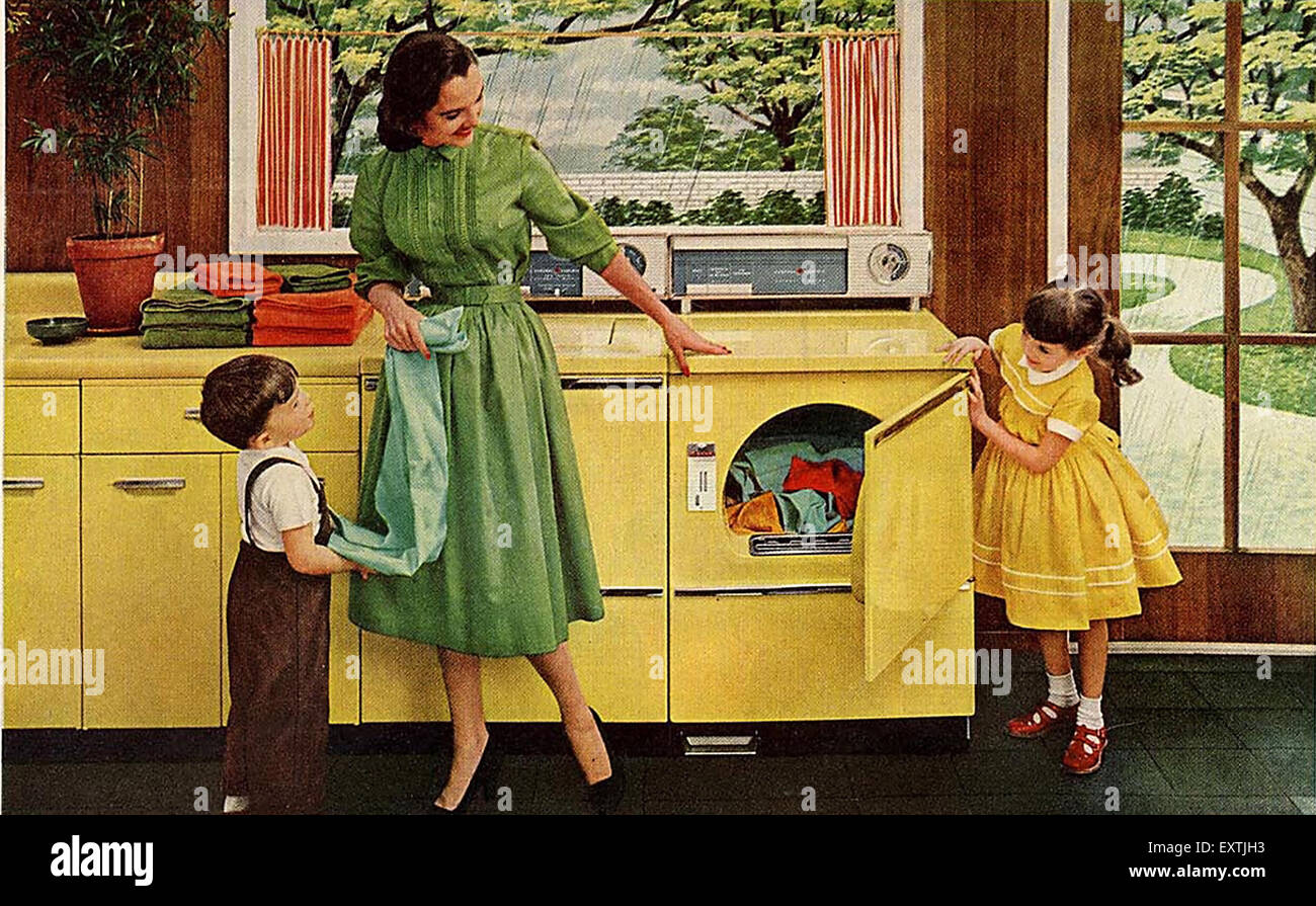 1950s USA General Electric Magazine Advert (detail) - Stock Image