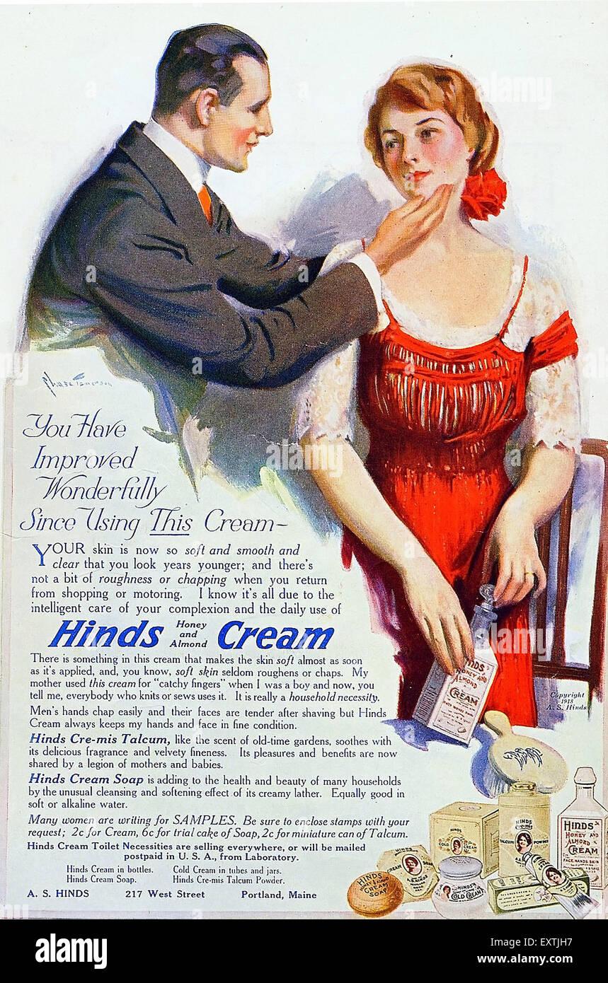 USA Hinds Magazine Advert - Stock Image
