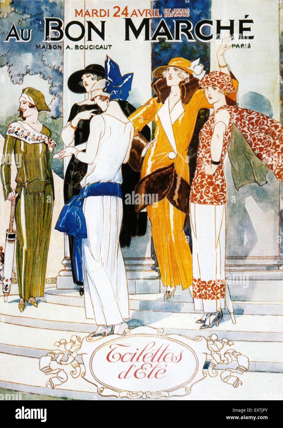 1920s France Au Bon Marche Poster - Stock Image