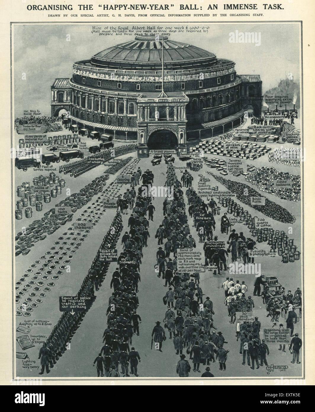 1920s UK Royal Albert Hall Magazine Plate - Stock Image