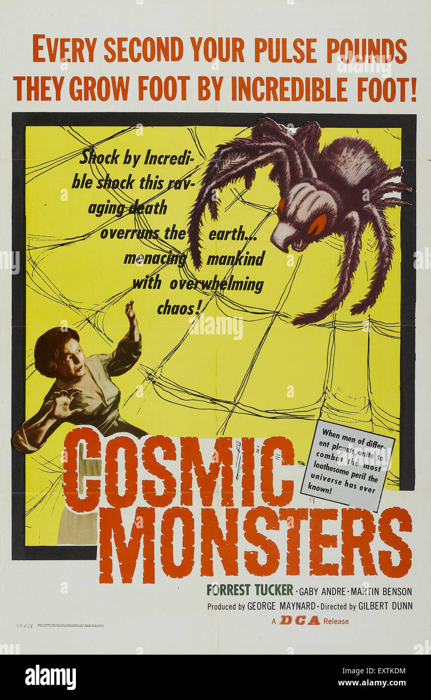 1950s USA Cosmic Monsters Film Poster - Stock Image