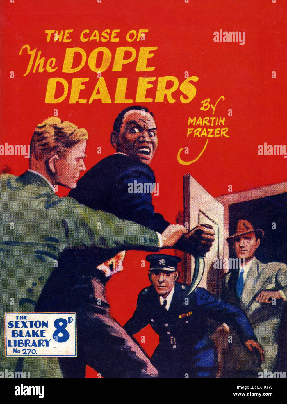 1950s UK The Case of the Dop Dealers Book Cover - Stock Image