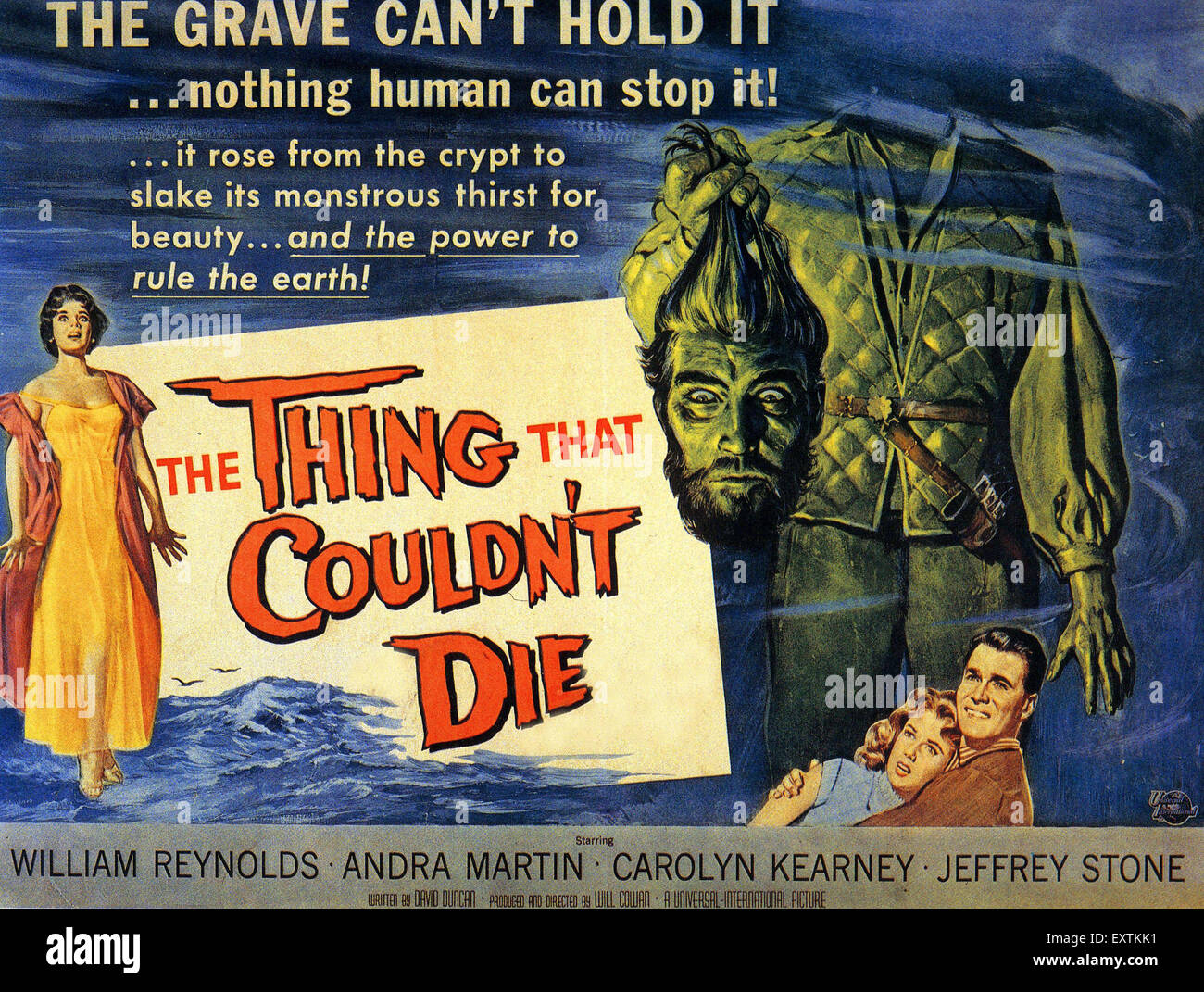 1950s USA The Thing That Couldn't Die Film Poster - Stock Image