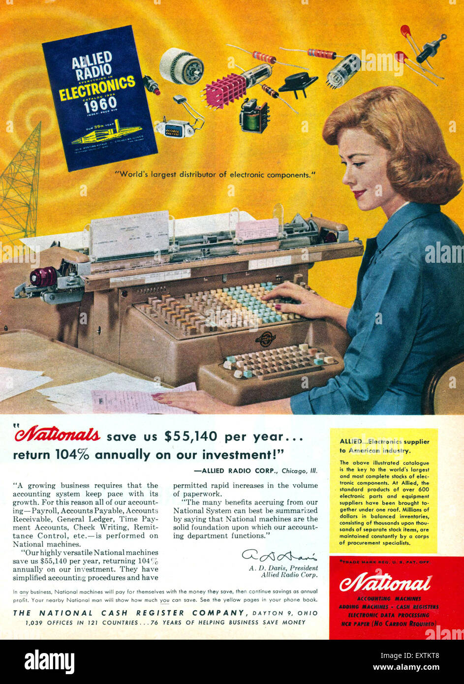 1960s USA National Magazine Advert Stock Photo: 85364952 - Alamy