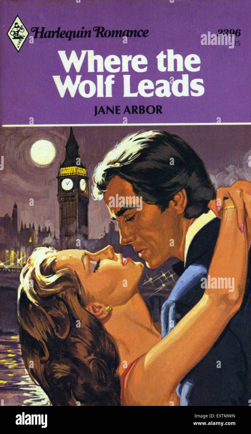 1980s UK Mills and Boon Book Cover - Stock Image