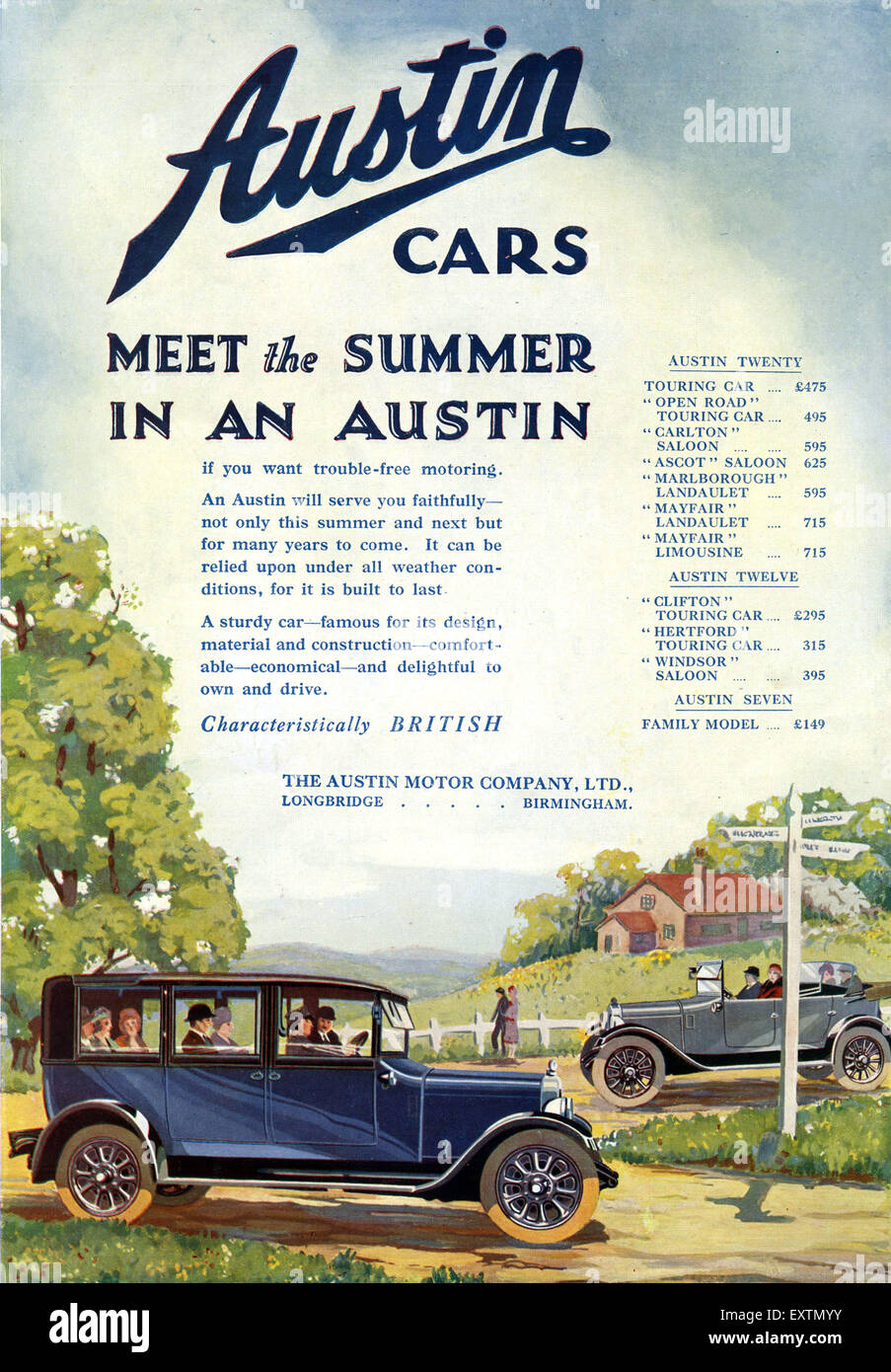 1920s Uk Austin Magazine Advert High Resolution Stock Photography And Images Alamy