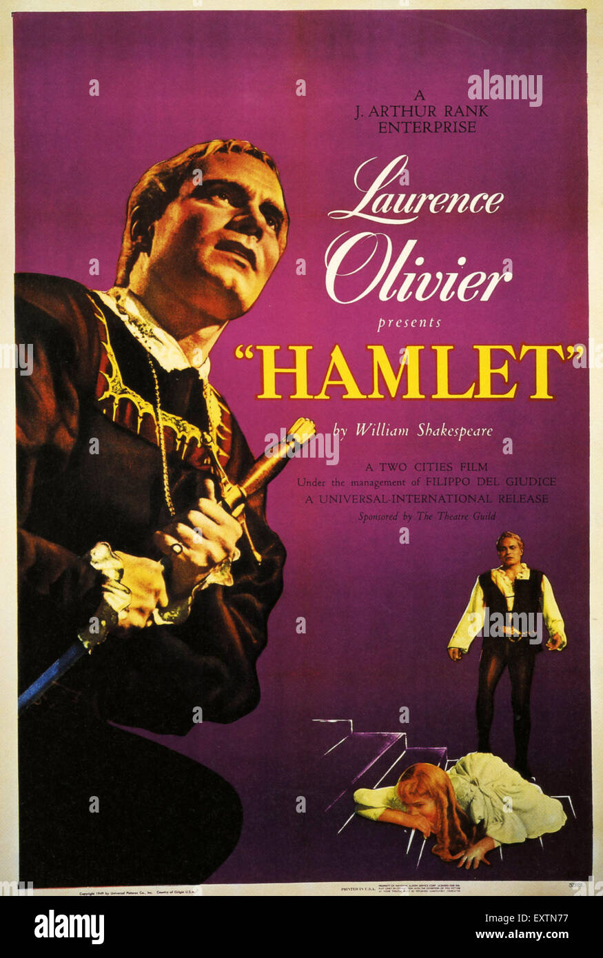 1940s UK Hamlet Film Poster - Stock Image