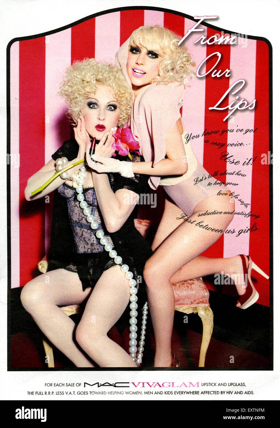 2010s UK MAC Viva Glam, M.A.C Magazine Advert - Stock Image
