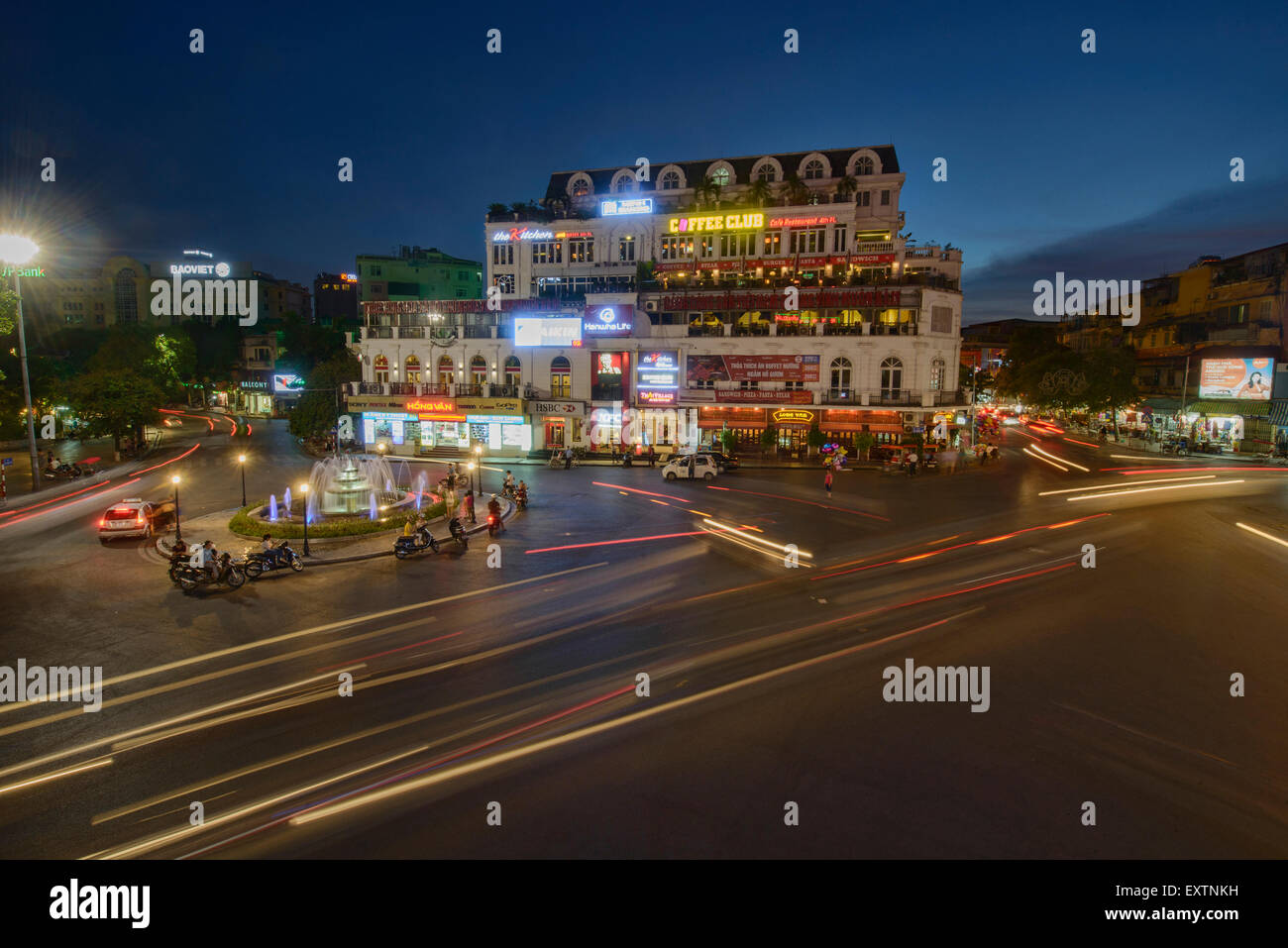Scenes of Hanoi by night, Vietnam - Stock Image