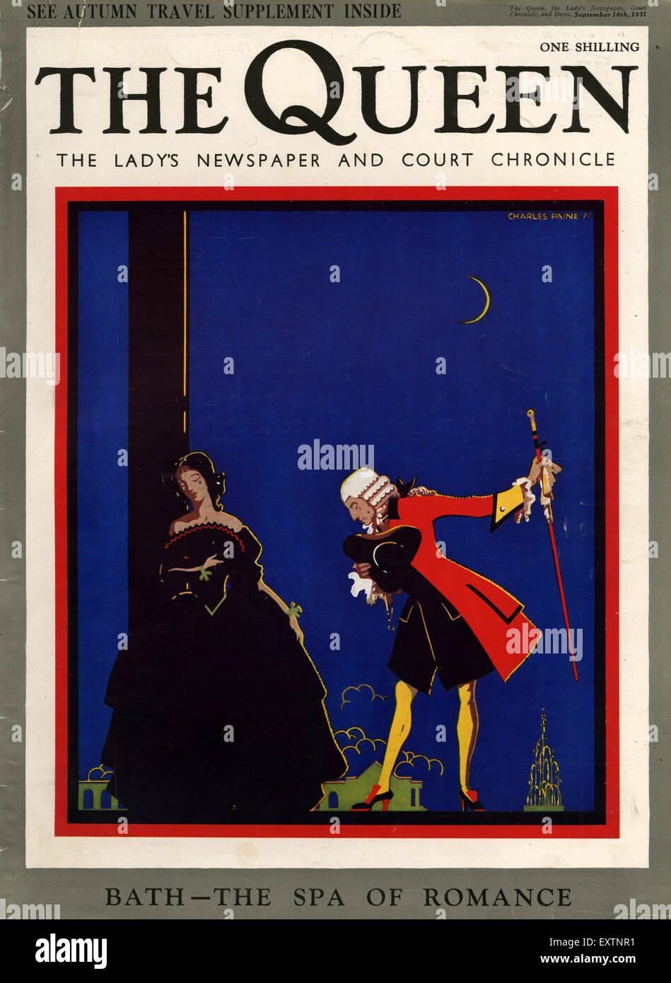 1930s UK The Queen Magazine Cover - Stock Image